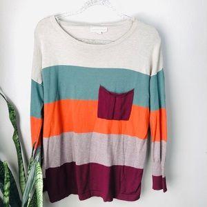 Love Stitch Striped Sweater | M